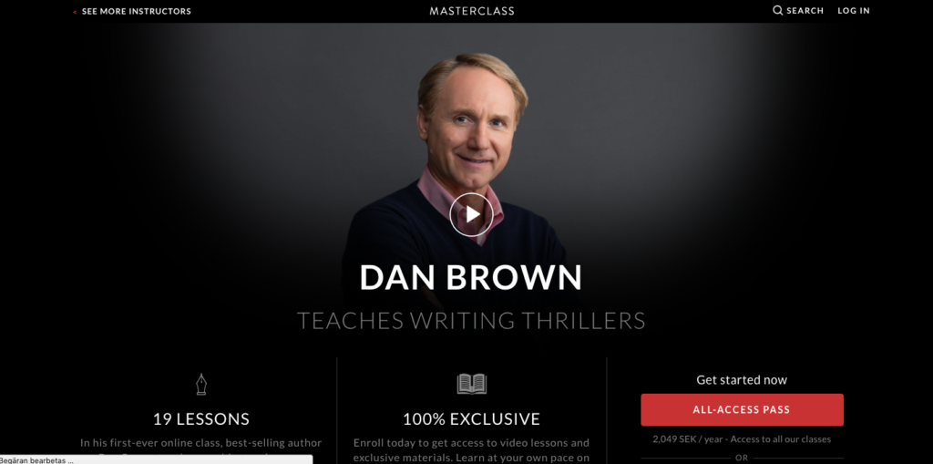 Dan Brown Masterclass